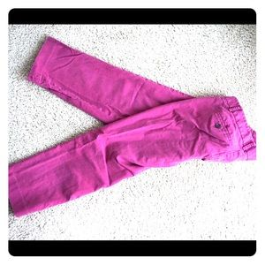 Pink ankle work pants
